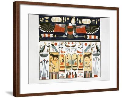 Mural from the Tombs of the Kings at Thebes, 1820-Giovanni Battista Belzoni-Framed Giclee Print