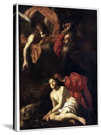 Abraham's Sacrifice of Isaac, C1615-C1620-Giovanni Battista Caracciolo-Stretched Canvas Print