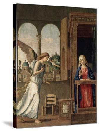 The Annunciation, 1495-Giovanni Battista Cima Da Conegliano-Stretched Canvas Print