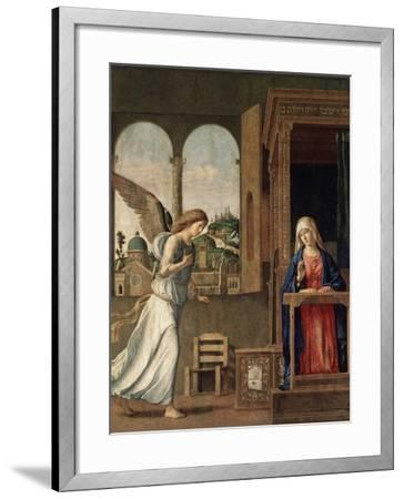 The Annunciation, 1495-Giovanni Battista Cima Da Conegliano-Framed Giclee Print