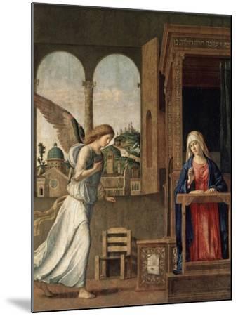 The Annunciation, 1495-Giovanni Battista Cima Da Conegliano-Mounted Giclee Print