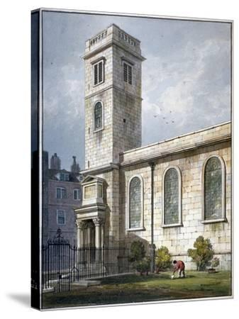 All Hallows Church, Lombard Street, London, 1811-George Shepherd-Stretched Canvas Print