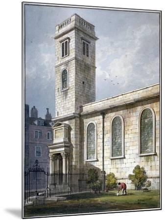 All Hallows Church, Lombard Street, London, 1811-George Shepherd-Mounted Giclee Print