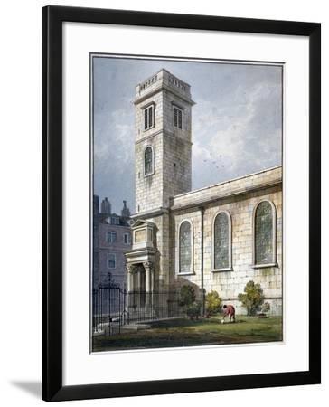 All Hallows Church, Lombard Street, London, 1811-George Shepherd-Framed Giclee Print