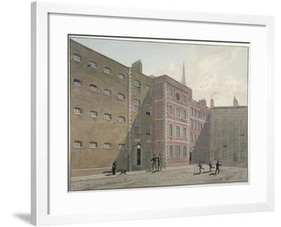View of the Quadrangle at Bridewell, City of London, 1810-George Shepherd-Framed Giclee Print