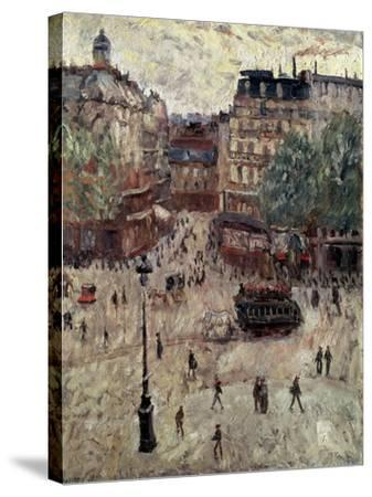 A Square in Paris, 1907-Georges Leon Dufrenoy-Stretched Canvas Print