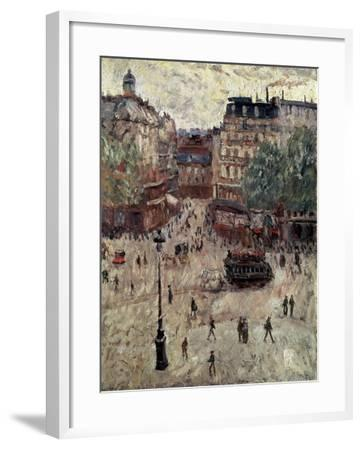 A Square in Paris, 1907-Georges Leon Dufrenoy-Framed Giclee Print