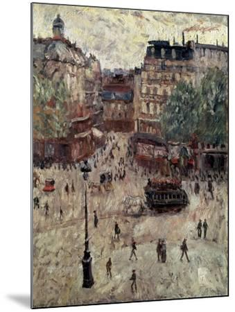 A Square in Paris, 1907-Georges Leon Dufrenoy-Mounted Giclee Print
