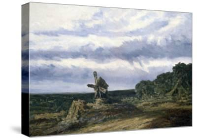 Landscape with a Mill, C1783-1843-Georges Michel-Stretched Canvas Print