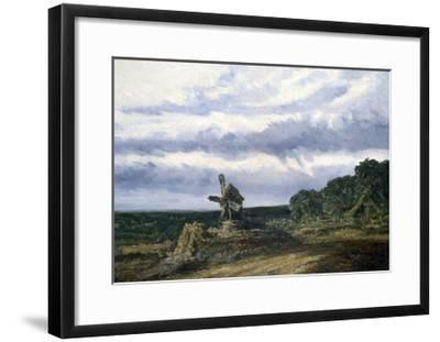 Landscape with a Mill, C1783-1843-Georges Michel-Framed Giclee Print