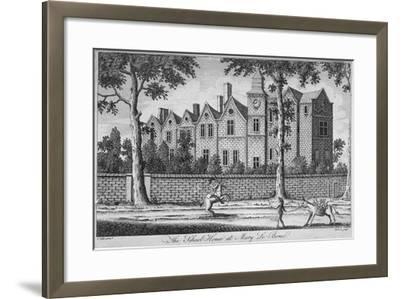 View of the School House at St Marylebone, London, C1780-H Roberts-Framed Giclee Print