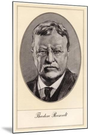 Theodore Roosevelt, 26th President of the United States-Gordon Ross-Mounted Giclee Print