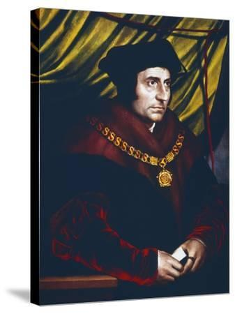 Thomas More, English Statesman, Scholar and Saint, C1527-Hans Holbein the Younger-Stretched Canvas Print