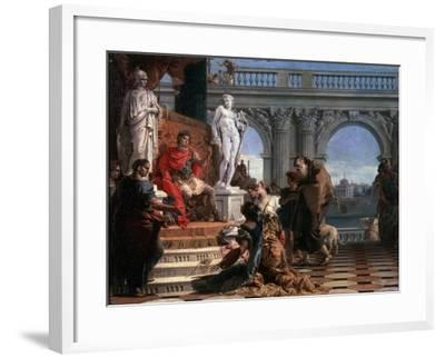 Maecenas Presenting the Arts to Augustus, 1743-Giovanni Battista Tiepolo-Framed Giclee Print