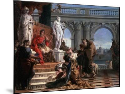 Maecenas Presenting the Arts to Augustus, 1743-Giovanni Battista Tiepolo-Mounted Giclee Print