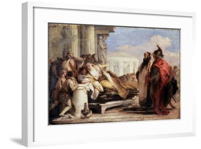 The Death of Dido, 1757-1760-Giovanni Battista Tiepolo-Framed Giclee Print
