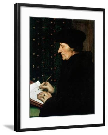 Desiderus Erasmus, Dutch Humanist and Scholar, 1523-Hans Holbein the Younger-Framed Giclee Print