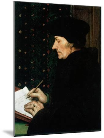 Desiderus Erasmus, Dutch Humanist and Scholar, 1523-Hans Holbein the Younger-Mounted Giclee Print