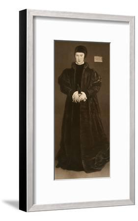 Christina of Denmark, Duchess of Milan, 1538-Hans Holbein the Younger-Framed Giclee Print