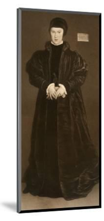 Christina of Denmark, Duchess of Milan, 1538-Hans Holbein the Younger-Mounted Giclee Print