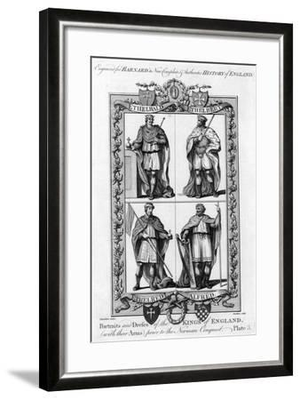 Portraits and Dresses of the Kings of England..., C1783-Hawkins-Framed Giclee Print
