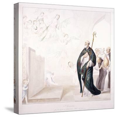 St Dunstan, C1750-GP Harding-Stretched Canvas Print