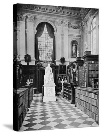 Lord Byron's Statue, Trinity College Library, Cambridge, 1902-1903-HC Leat-Stretched Canvas Print
