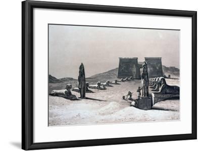 Temple of Asseboua, Nubia, Egypt, 19th Century-Hector Horeau-Framed Giclee Print