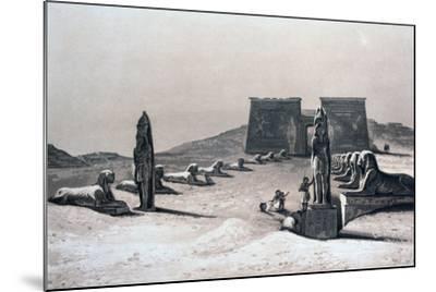Temple of Asseboua, Nubia, Egypt, 19th Century-Hector Horeau-Mounted Giclee Print