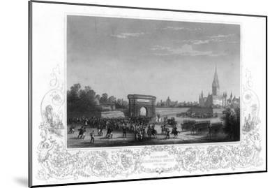 Napoleon's Triumphal Entry into Milan, Italy, C1805-H Bibby-Mounted Giclee Print