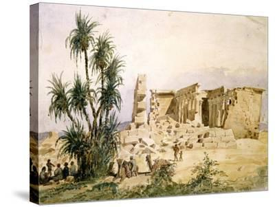 Temple of Maharraka, Egypt, 19th Century-Hector Horeau-Stretched Canvas Print