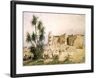 Temple of Maharraka, Egypt, 19th Century-Hector Horeau-Framed Giclee Print