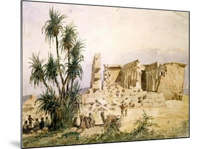 Temple of Maharraka, Egypt, 19th Century-Hector Horeau-Mounted Giclee Print