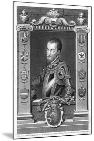 Philip II, King of Spain, 16th Century, (173)-George Vertue-Mounted Giclee Print