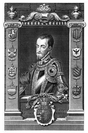 Philip II, King of Spain, (173)-George Vertue-Framed Giclee Print