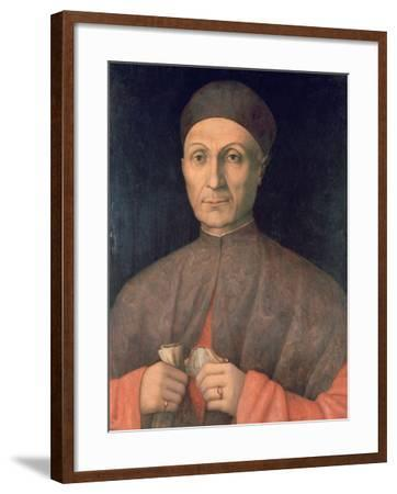 Portrait of a Scholar, C1450-1507-Giovanni Bellini-Framed Giclee Print