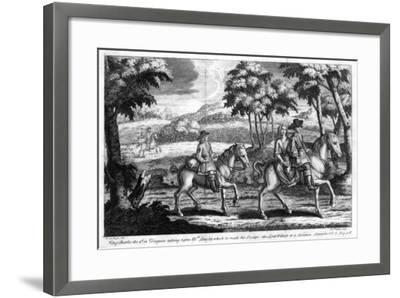 King Charles II Escaping from England, 1651- Gucht-Framed Giclee Print