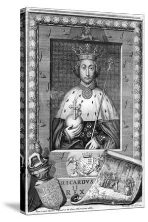 Richard II, King of England-George Vertue-Stretched Canvas Print