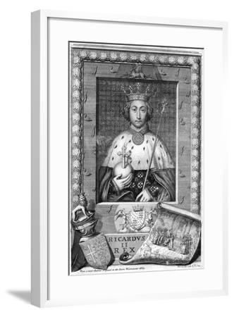 Richard II, King of England-George Vertue-Framed Giclee Print