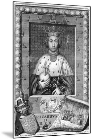 Richard II, King of England-George Vertue-Mounted Giclee Print