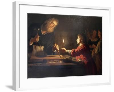 Childhood of Christ, C1620-Gerrit van Honthorst-Framed Giclee Print
