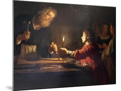 Childhood of Christ, C1620-Gerrit van Honthorst-Mounted Giclee Print