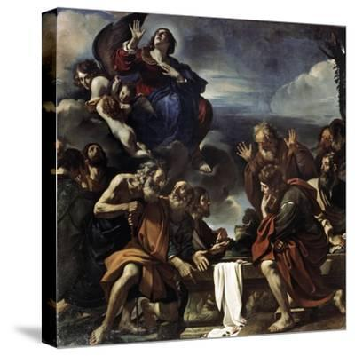 The Assumption of the Blessed Virgin Mary, 1623-Guercino-Stretched Canvas Print