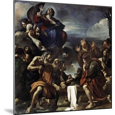 The Assumption of the Blessed Virgin Mary, 1623-Guercino-Mounted Giclee Print