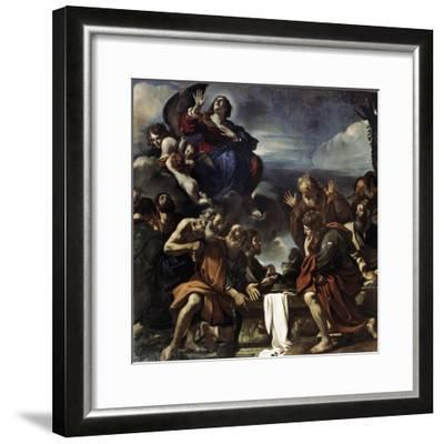 The Assumption of the Blessed Virgin Mary, 1623-Guercino-Framed Giclee Print