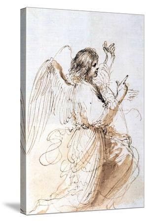 Study of an Angel, C1611-1666-Guercino-Stretched Canvas Print