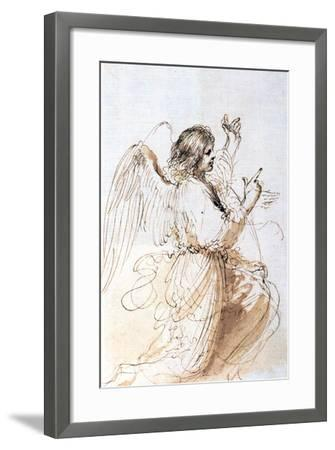 Study of an Angel, C1611-1666-Guercino-Framed Giclee Print