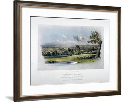 View of the London and Greenwich Railway from the Back of Greenwich Road, 1836-GF Bragg-Framed Giclee Print