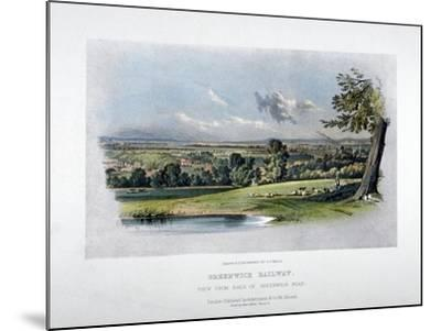 View of the London and Greenwich Railway from the Back of Greenwich Road, 1836-GF Bragg-Mounted Giclee Print