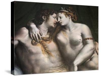 Love Scene, 16th Century-Giulio Romano-Stretched Canvas Print